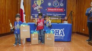 Campeones de categoría Tiny Tots: Primero: Adrian A. Cedeño Segundo: Ian Alberto Sierra Tercero: Gabriel Sierra