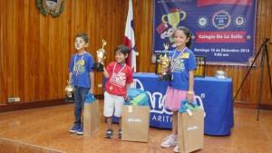 Campeones de categoría Tiny Tots Primero: Juan Ignacio Ureña Segundo: Melany Ayala Tercero: Rodolfo Pérez